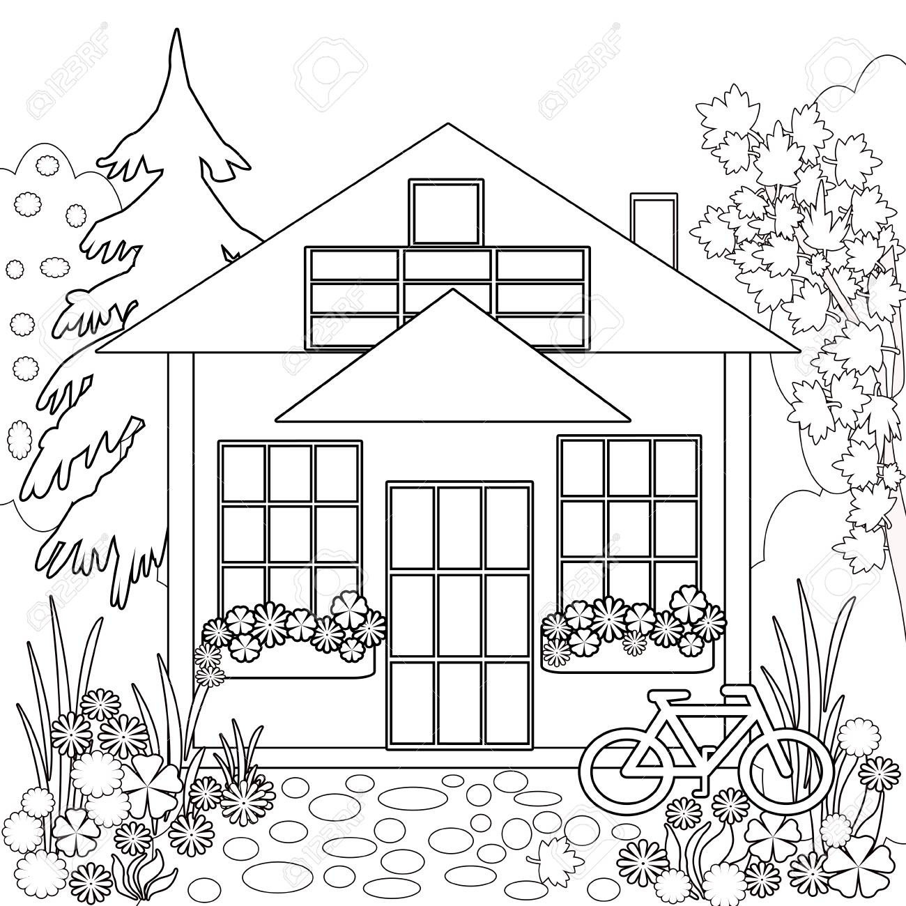 Ausmalbilder Haus Mit Garten Frisch Ausmalbilder Garten Best 40 Malvorlagen Garten Scoredatscore Sammlung