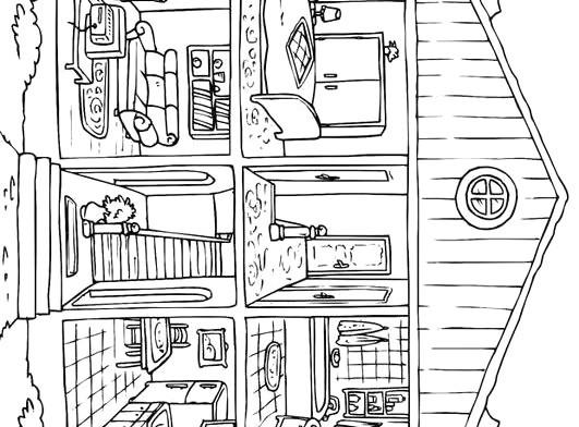 Ausmalbilder Haus Mit Garten Genial Dekorationsideen Und Raumfarben Https Avec Ausmalbild Haus Innen Stock