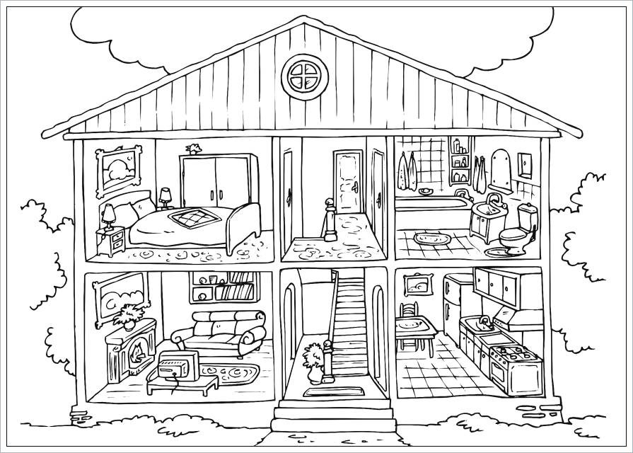 Ausmalbilder Haus Mit Garten Inspirierend Haus Mit Garten Ausmalbild 53 Best Basteln Pinterest Stock