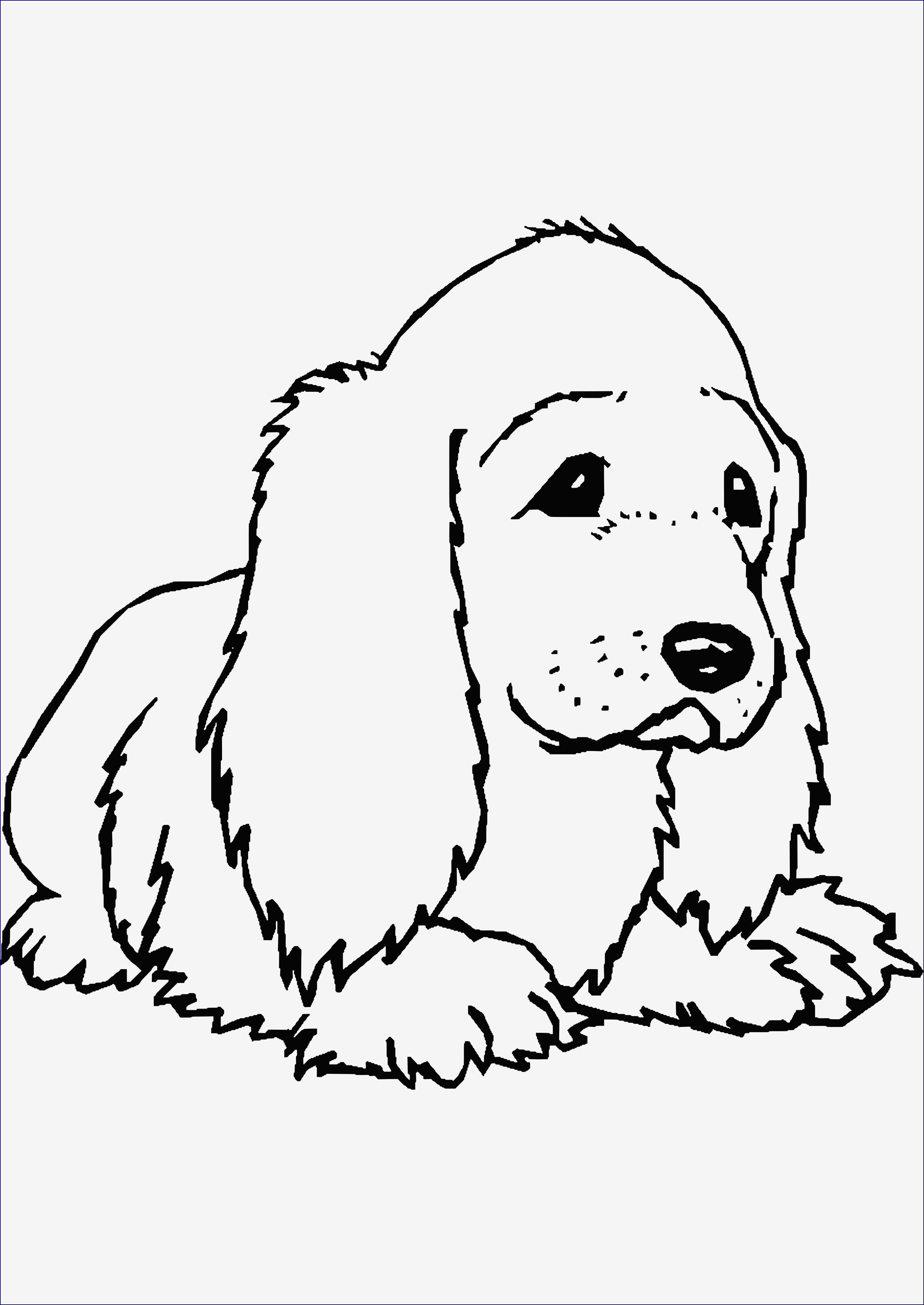 Ausmalbilder Hunde Baby Inspirierend Beispielbilder Färben Ausmalbild Hund Einfach Bild