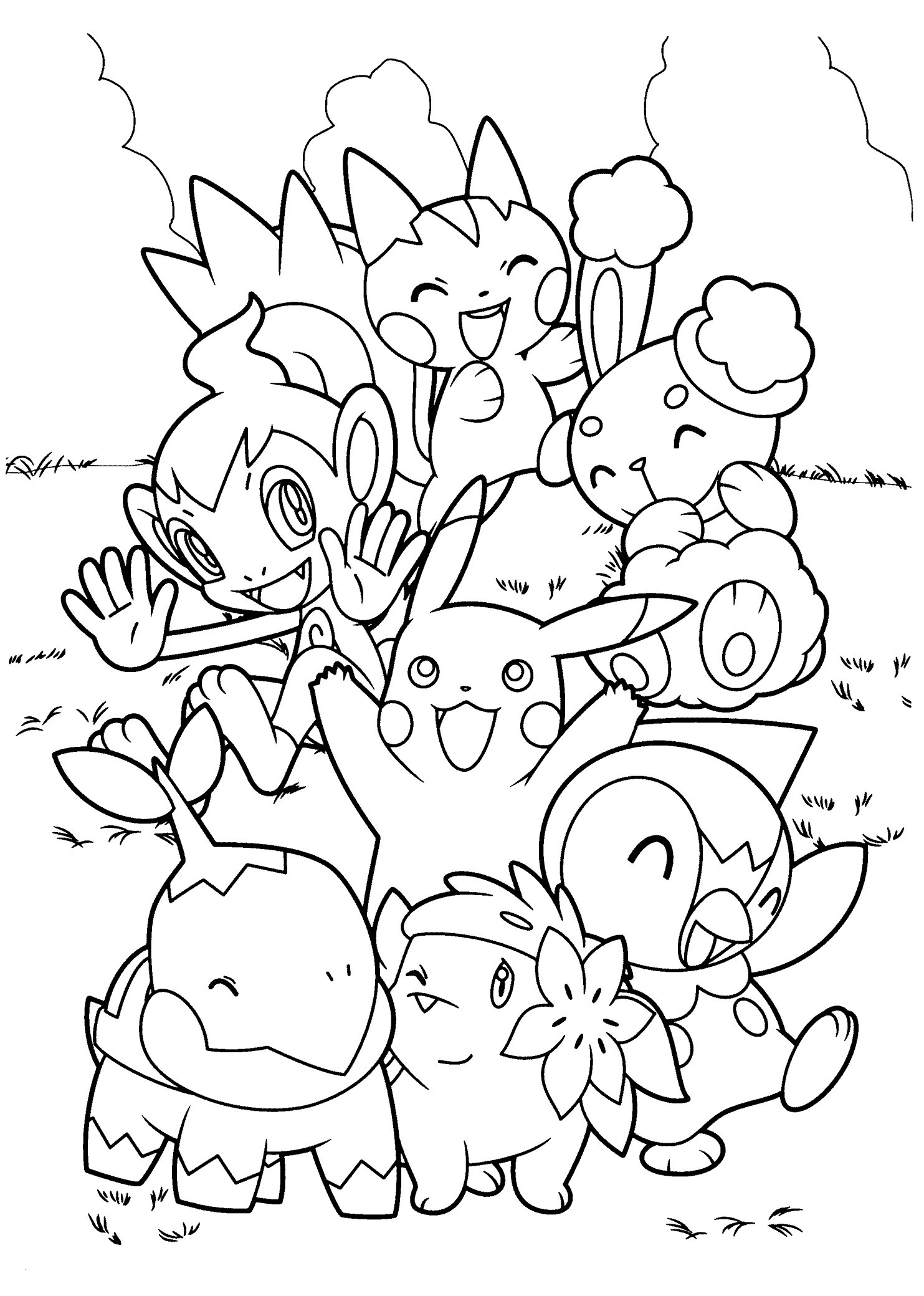 Ausmalbilder Karneval Kostenlos Genial top 75 Free Printable Pokemon Coloring Pages Line Best Bild