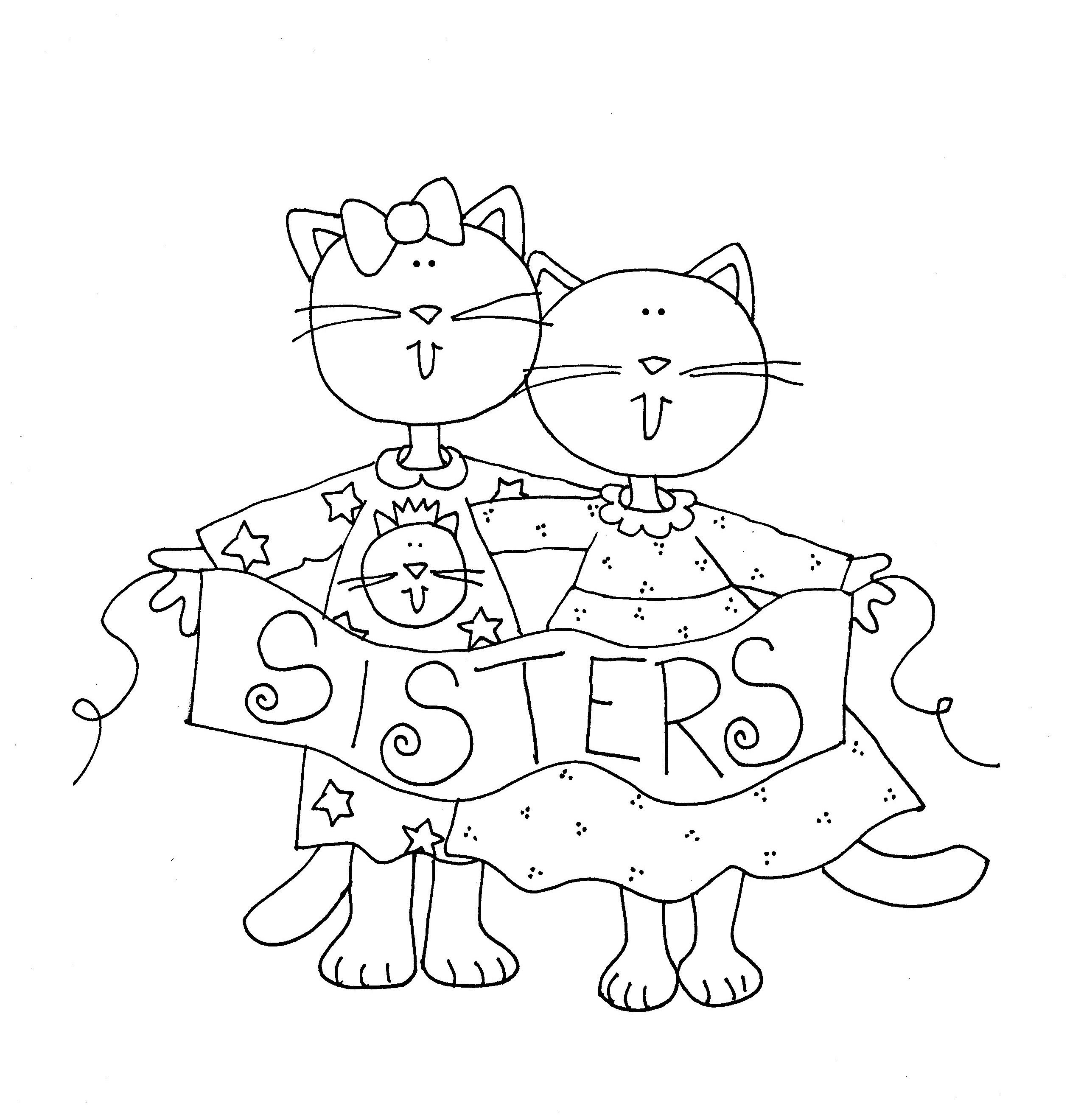 Ausmalbilder Katze Und Hund Inspirierend Cat Sisters Dearie Dolls Digi Stamps Digi Stamps Elegant Hund Und Fotos
