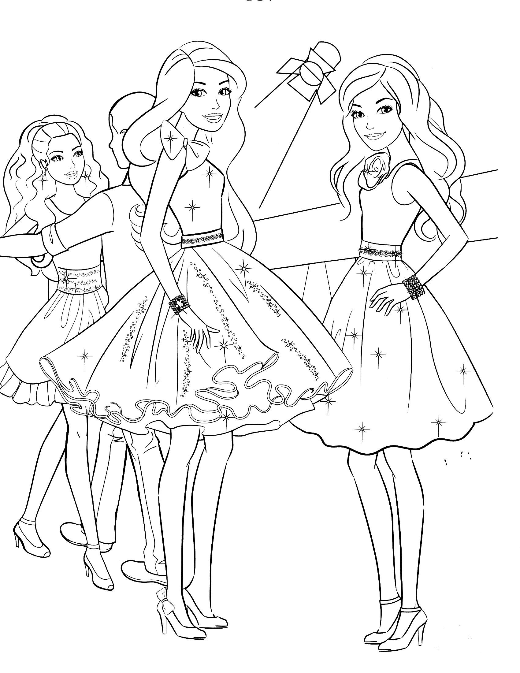 Ausmalbilder Kostenlos Barbie Genial Free Coloring Pages for Kids Coloring Time Das Bild