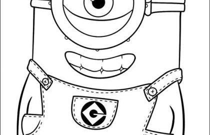 Ausmalbilder Kostenlos Minions Einzigartig Minion Clipart Black and White Inspirational Free Minion Coloring Bild
