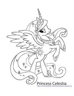Ausmalbilder Little Pony Neu My Little Pony Coloring Pages Princess Celestia Das Bild