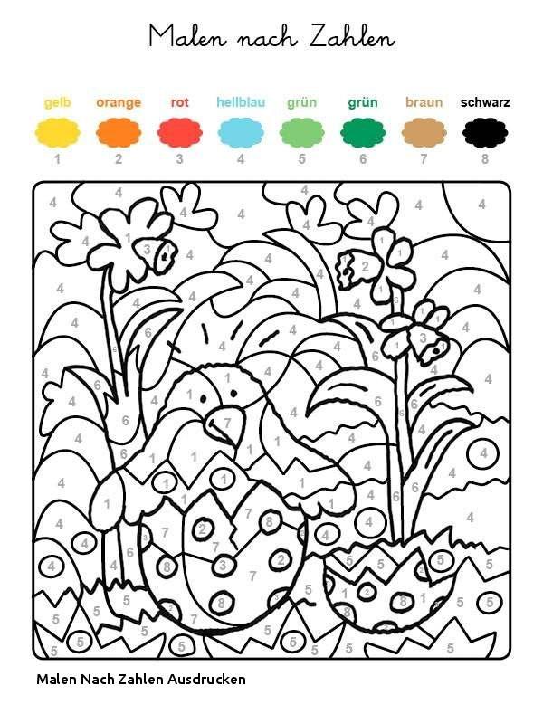 Ausmalbilder Malen Nach Zahlen Genial Malen Nach Zahlen Ausdrucken Ausmalbild Malen Nach Zahlen Osterküken Bilder