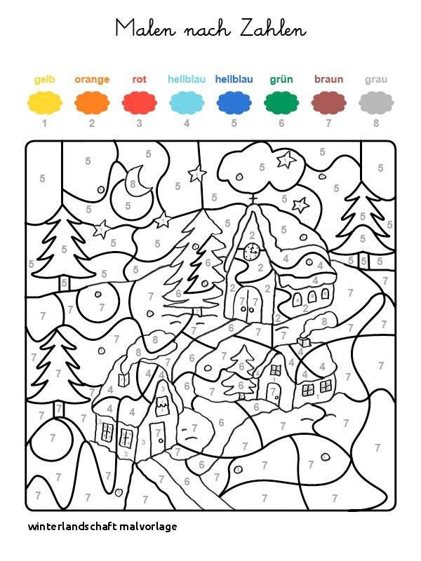 Ausmalbilder Malen Nach Zahlen Genial Winterlandschaft Malvorlage Ausmalbild Malen Nach Zahlen Galerie
