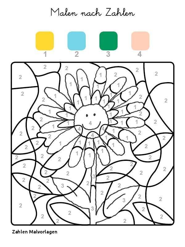 Ausmalbilder Malen Nach Zahlen Inspirierend Zahlen Malvorlagen Ausmalbild Malen Nach Zahlen sonnenblume Ausmalen Bilder