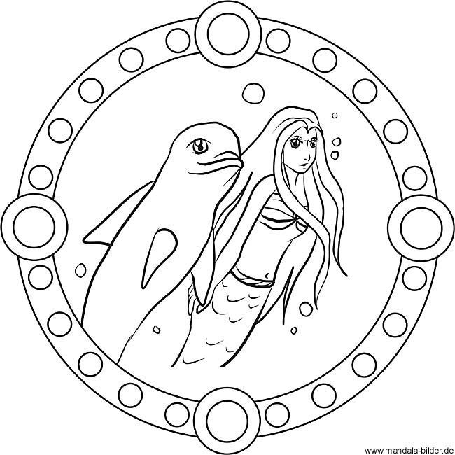 Ausmalbilder Meerjungfrau Mit Delfin Das Beste Von Malvorlage Mandala Delfin Lovely Mandala Delfin Und Meerjungfrau Als Stock