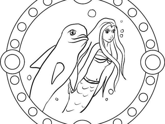 Ausmalbilder Meerjungfrau Mit Delfin Neu Malvorlage Mandala Delfin Lovely Mandala Delfin Und Meerjungfrau Als Das Bild
