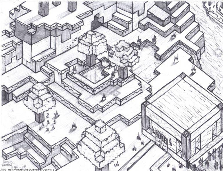 ausmalbilder minecraft dorf inspirierend ausmalbilder