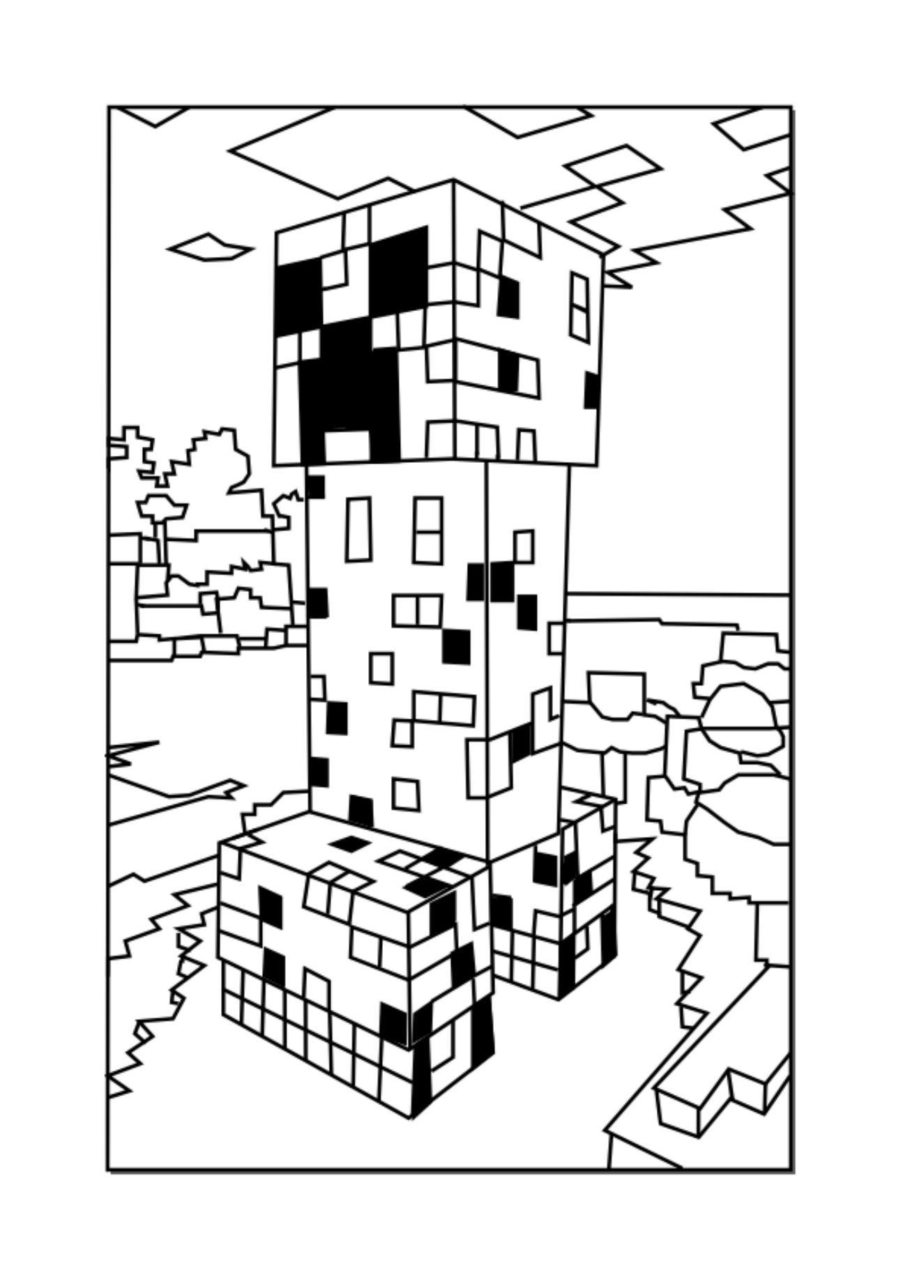 Ausmalbilder Minecraft Dorf Frisch Minecraft Creeper Coloring Picture John Stuff Pinterest Luxus Stock