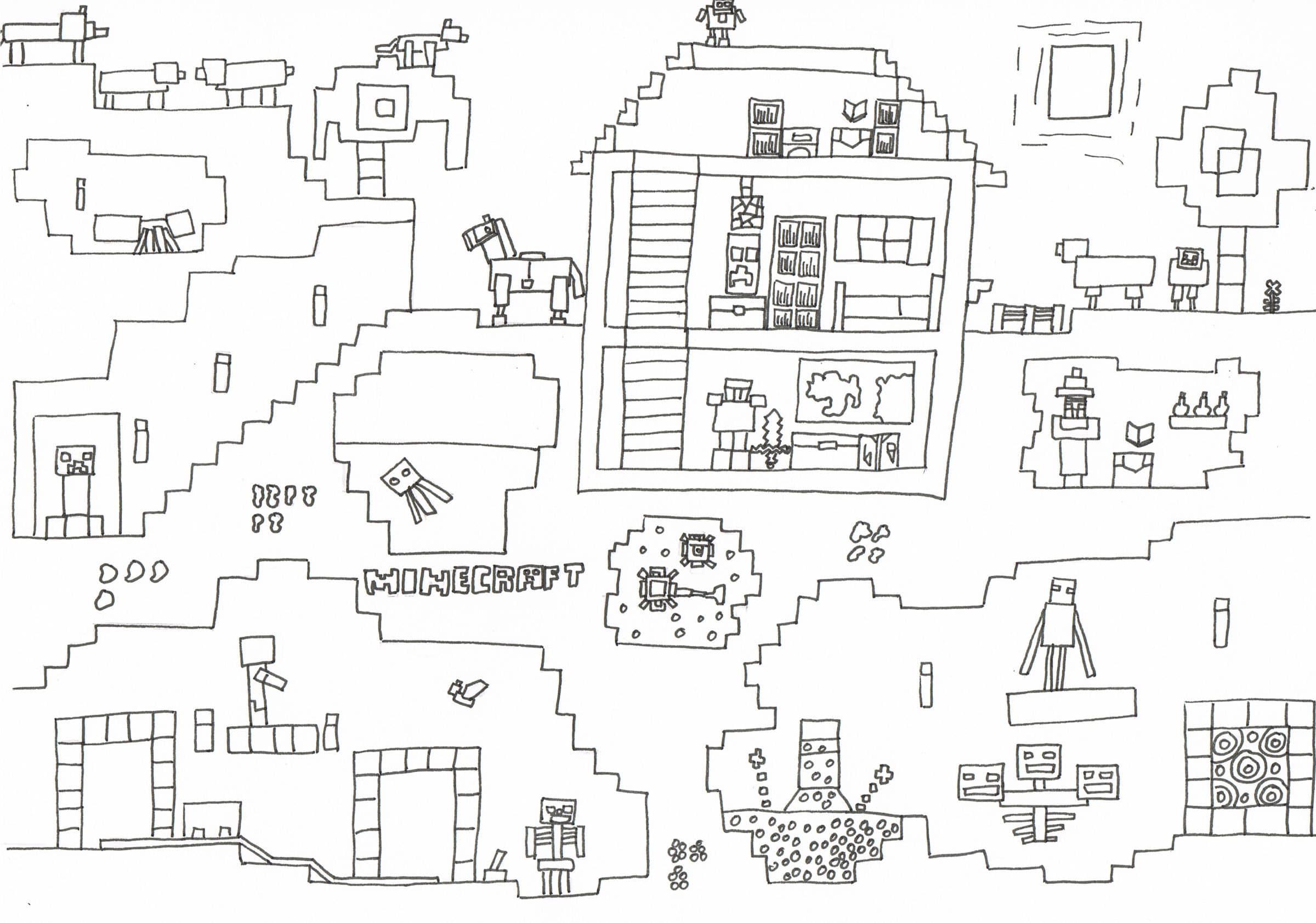 Ausmalbilder Minecraft Dorf Neu Minecraft Deadlox Ausmalbilder 1081 Malvorlage Minecraft Schön Das Bild