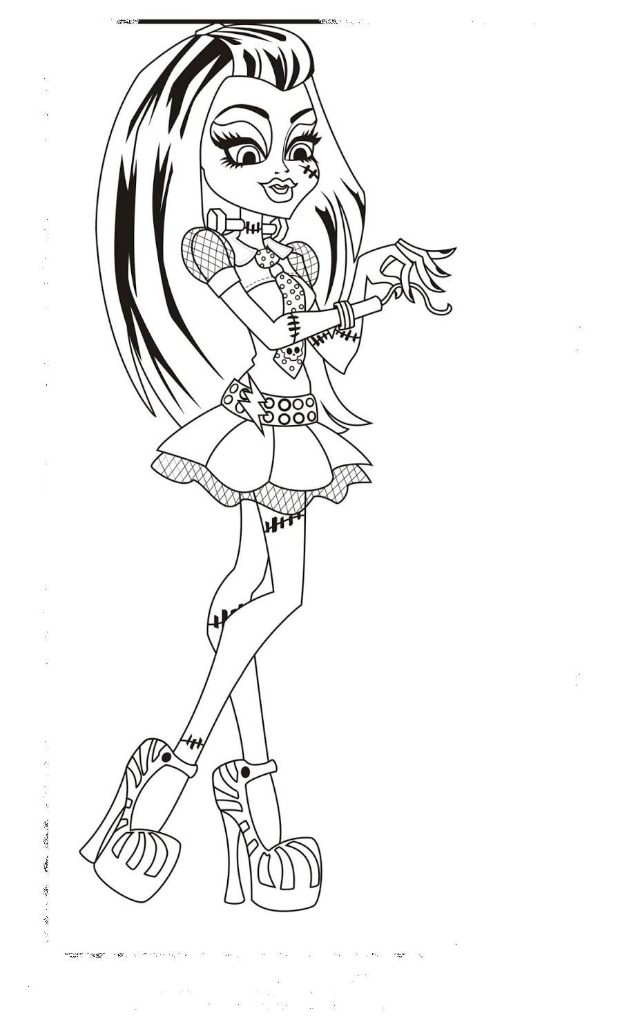Ausmalbilder Monster High Frankie Stein Frisch Ausmalbilder Monster High Draculaura Einzigartig Monster High Galerie