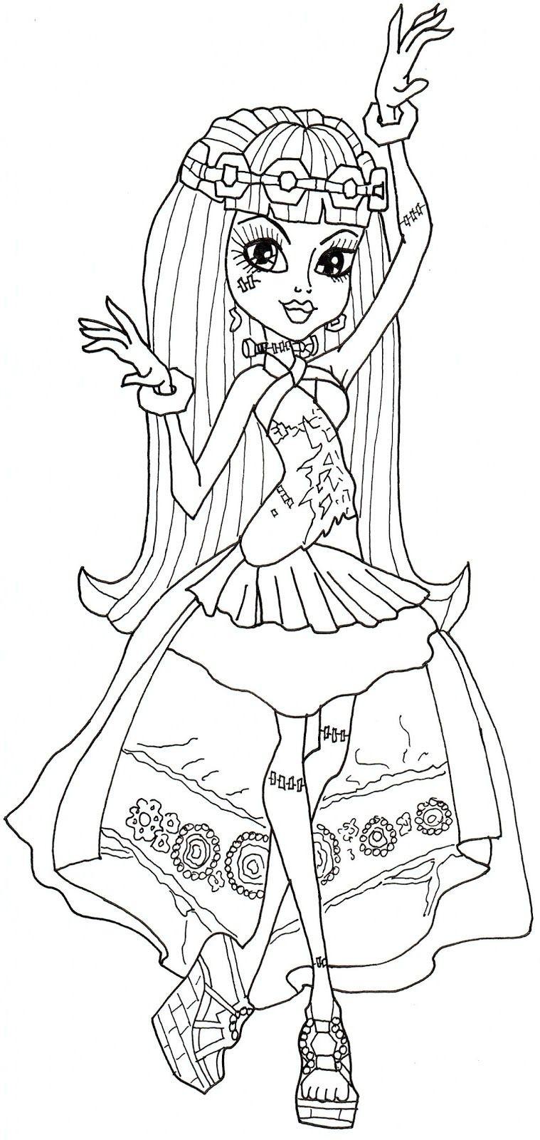Ausmalbilder Monster High Frankie Stein Frisch Free Printable Monster High Coloring Pages Frankie Stein 13 Wishes Bilder