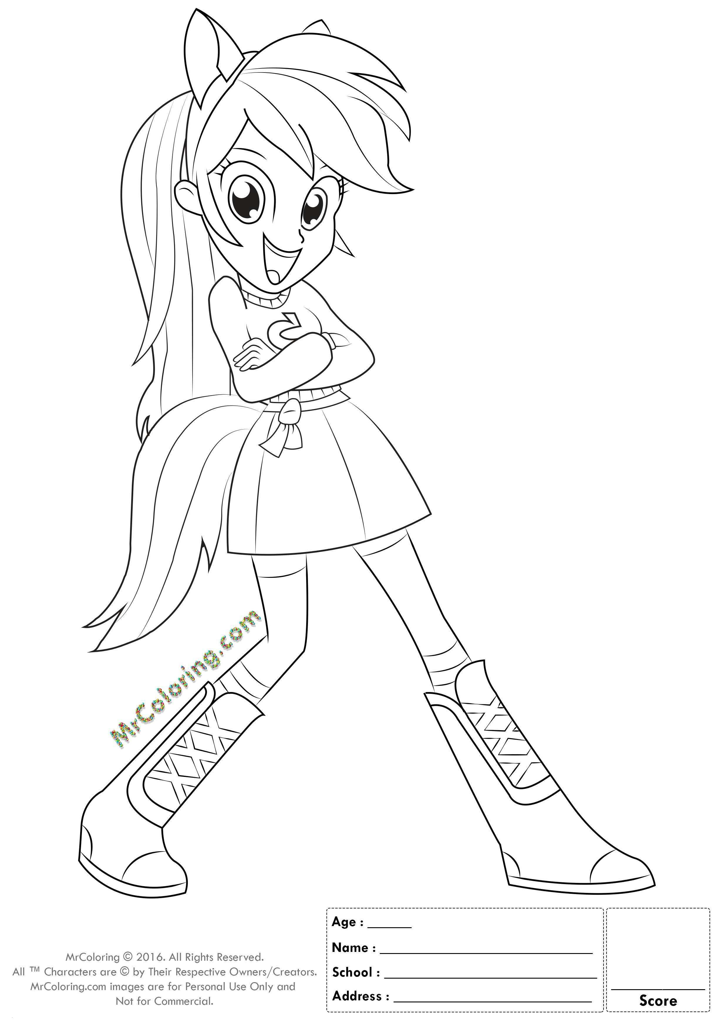 Ausmalbilder My Little Pony Equestria Girl Das Beste Von 20 My Little Pony Equestria Girl Rainbow Dash Coloring Pages Schön Fotos