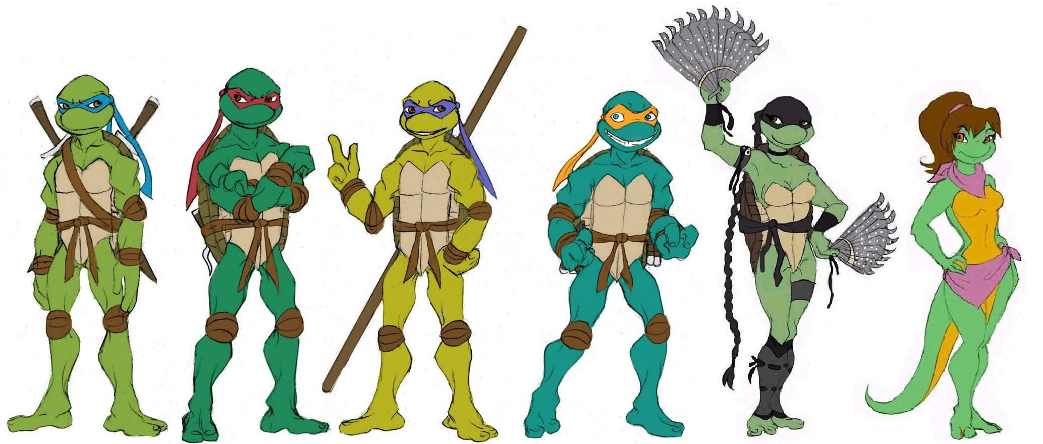 Ausmalbilder Ninja Turtles Inspirierend Female Ninja Turtle Ninja Turtles Line Up by Lily Pily Luxus Fußball Sammlung