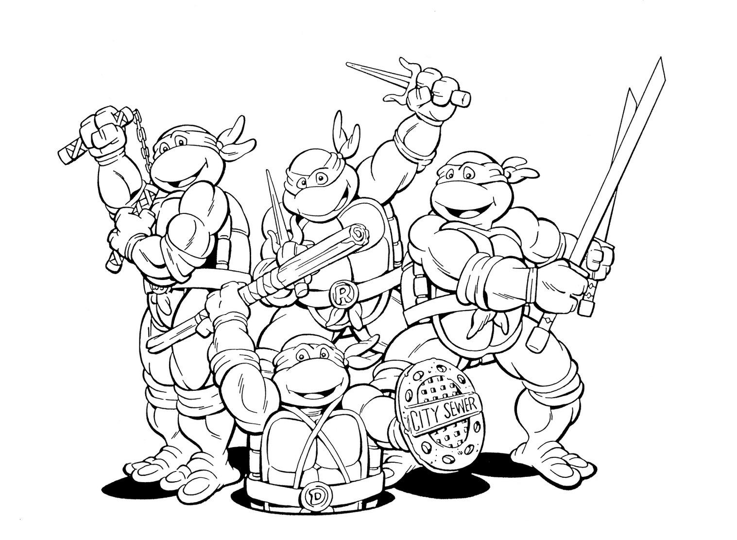 Ausmalbilder Ninja Turtles Inspirierend Nickelodeon Ninja Turtles Coloring Pages Genial Teenage Mutant Ninja Fotos