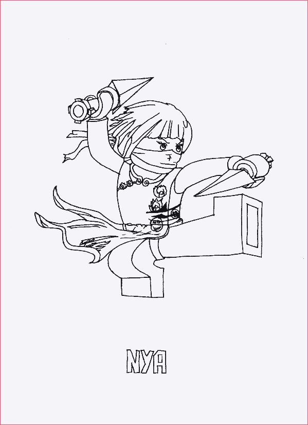 Ausmalbilder Ninjago Nya Genial Malvorlagen Ninjago Nya Stock