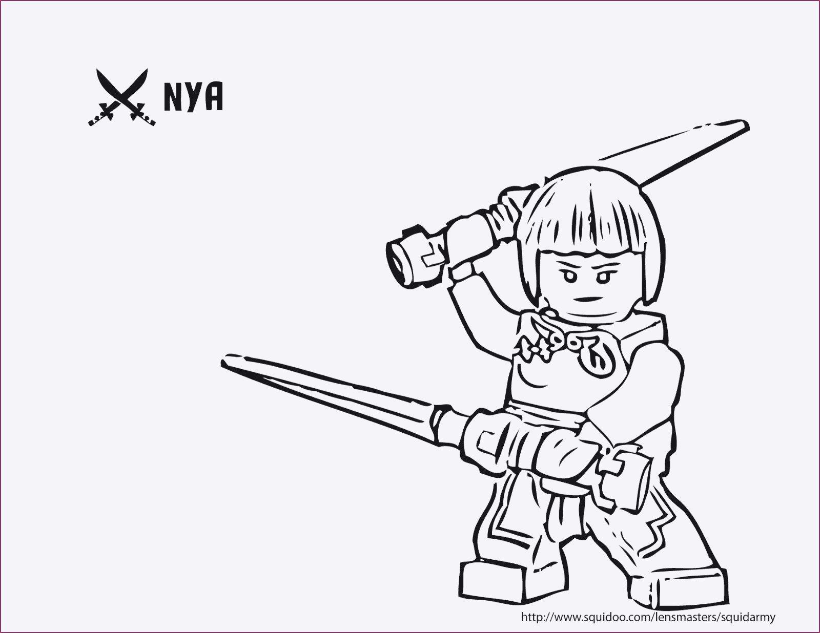 Ausmalbilder Ninjago Nya Inspirierend Malvorlagen Ninjago Nya Sammlung