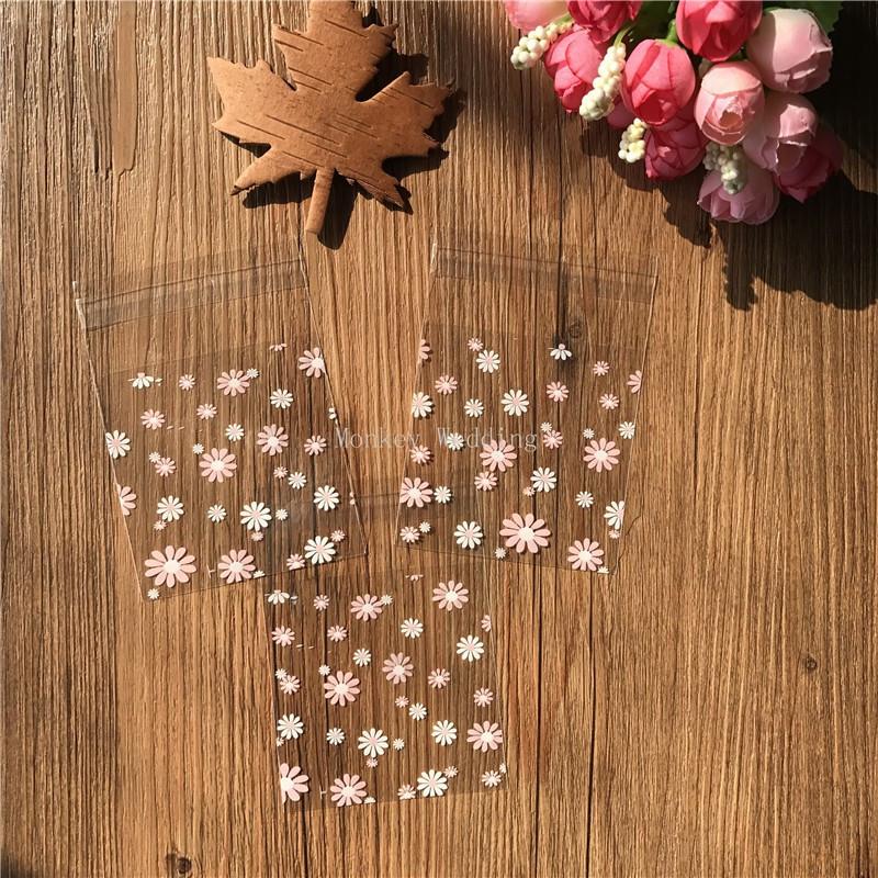 Ausmalbilder Pferde Mit Flügel Das Beste Von 100pcs Lot White Ans Pink Flower Plastic Biscuit Packaging Bags Das Bild