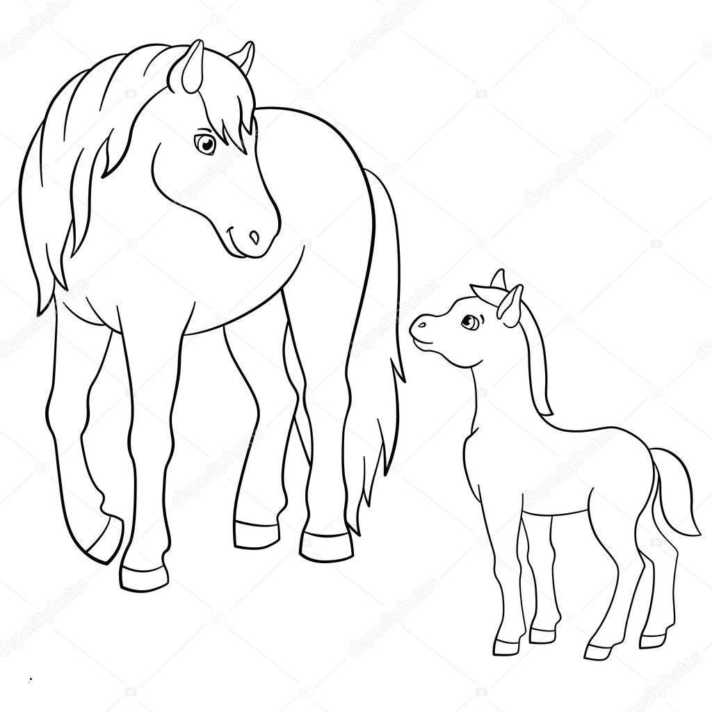 ausmalbilder pferde mit fohlen inspirierend 37