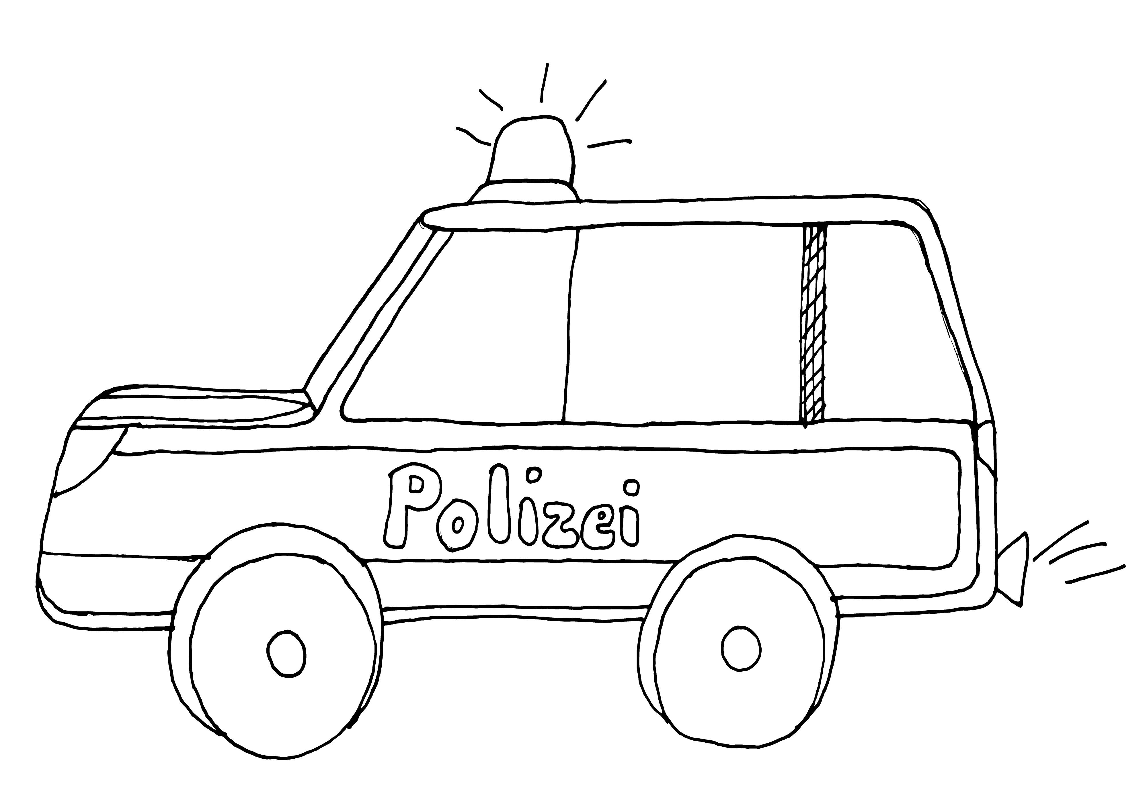 Ausmalbilder Polizei Und Feuerwehr Das Beste Von Polizeiauto Mit Blaulicht Ausmalbild Polizei Sammlung