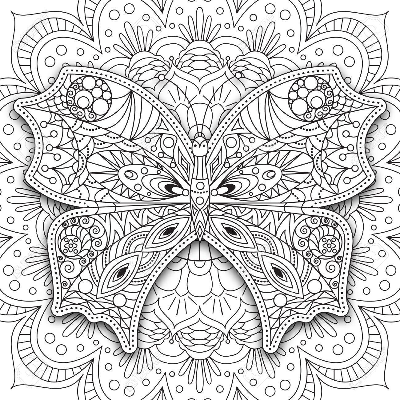 Ausmalbilder Schmetterling Mit Blume Neu Ausmalbilder Mandala Schmetterling Schön Schmetterling Hand Neu Stock