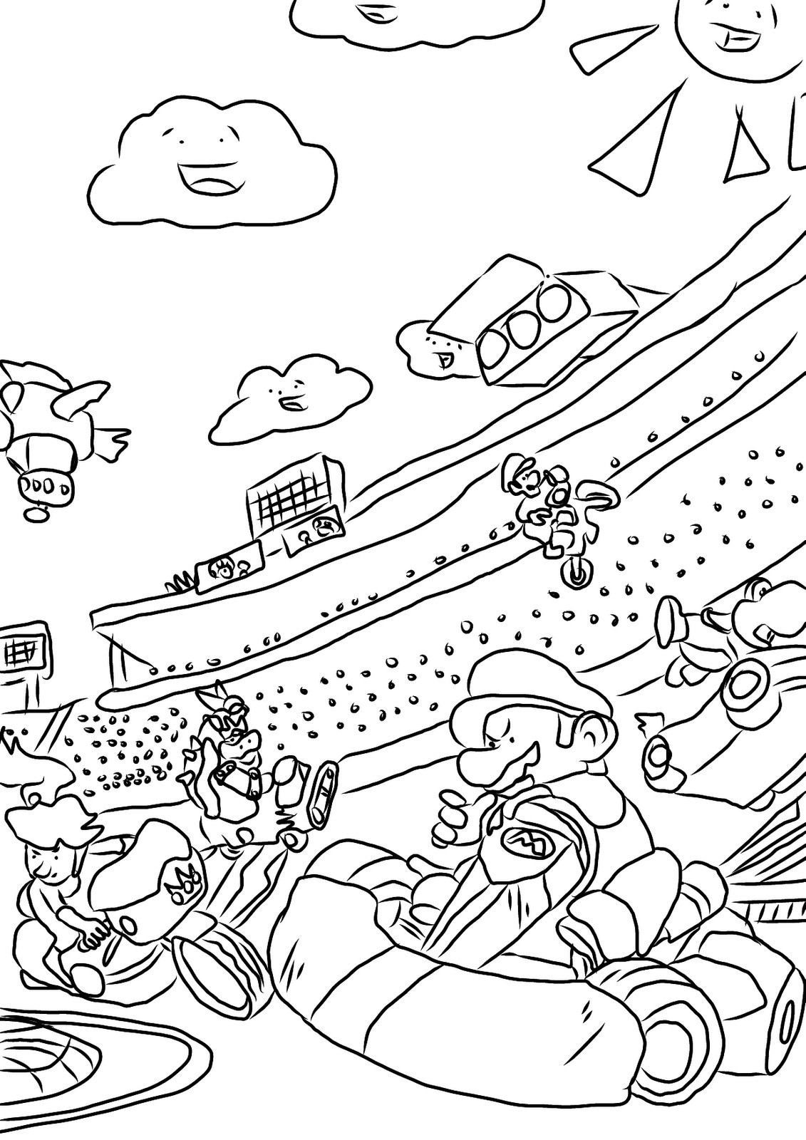 Image 14 Of 50 Super Mario 3d World Coloring Coloring Pages