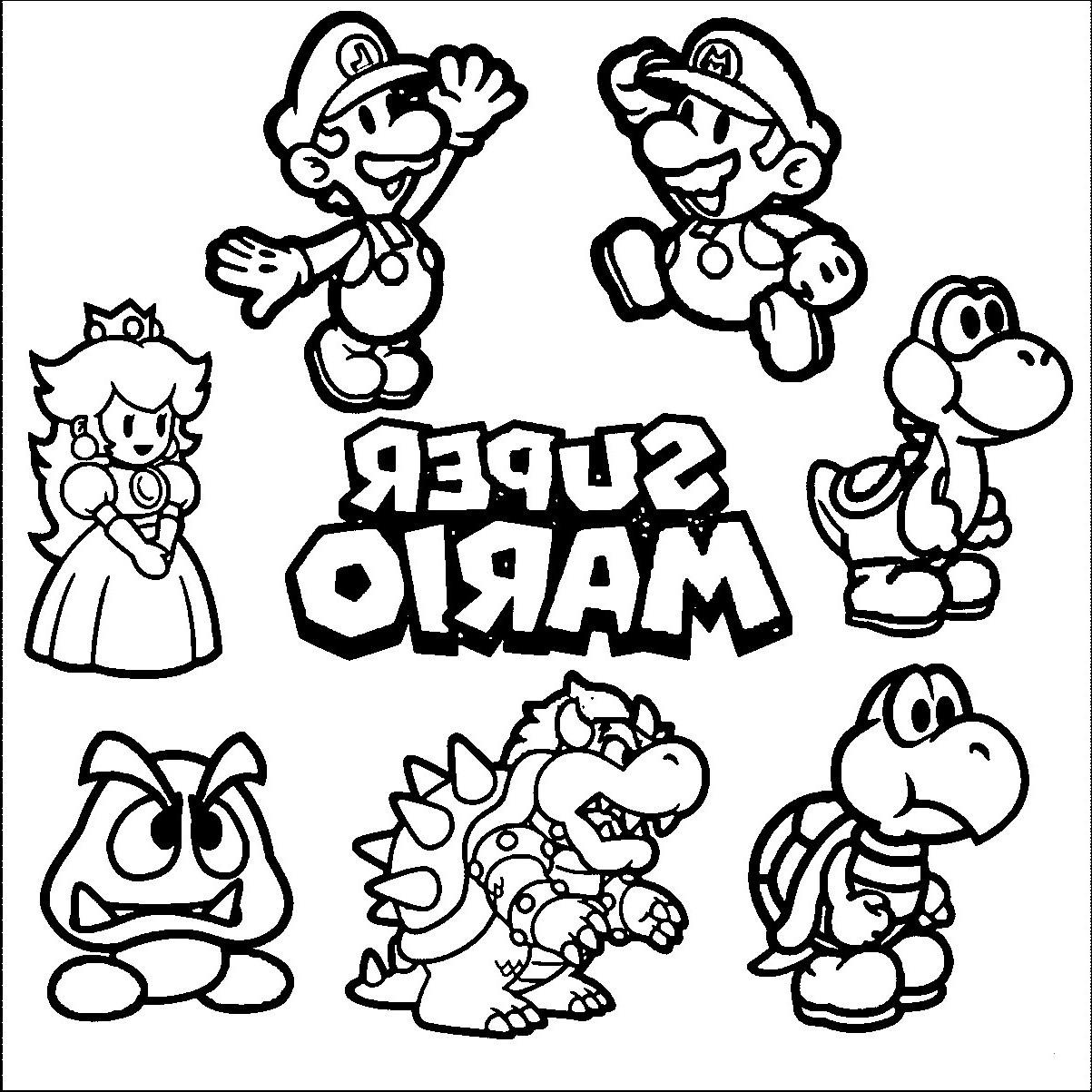 Ausmalbilder Super Mario 3d World Frisch 34 Schön Mario Ausmalbilder – Malvorlagen Ideen Galerie