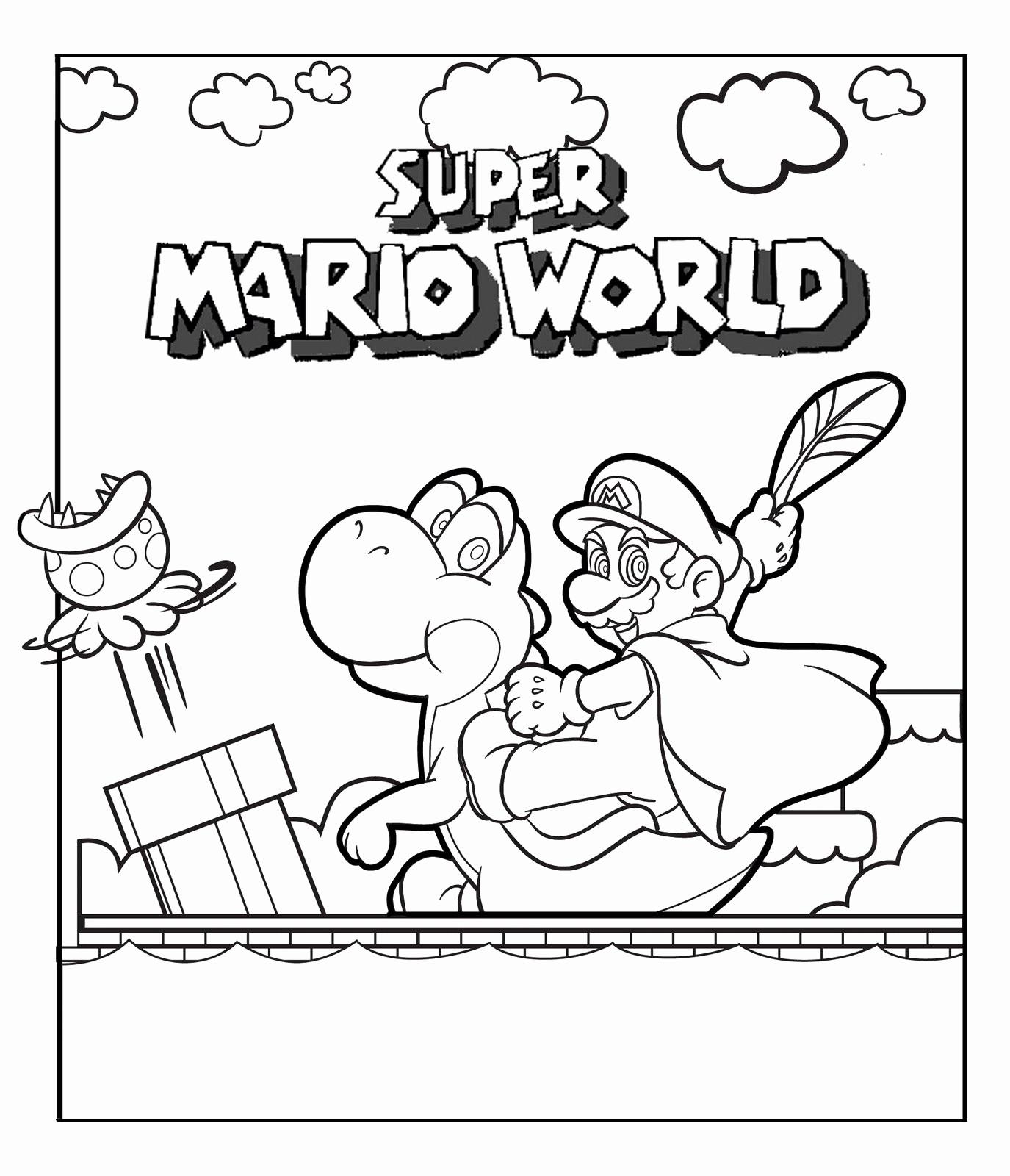 Ausmalbilder Super Mario 3d World Frisch Coloriage De Mario 3d Land Unique Schön Super Mario 3d Land Bild