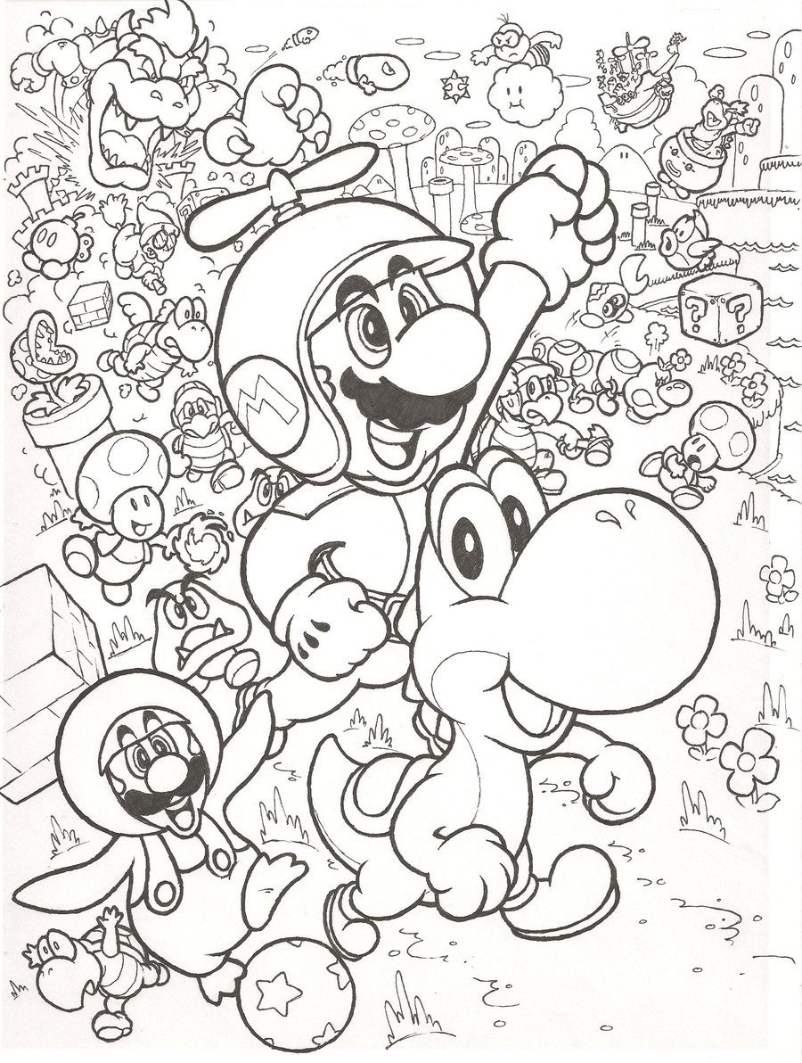 Ausmalbilder Super Mario 3d World Genial Ausmalbilder Mario Schön Yoshi Coloring Page Beautiful 42 Bilder