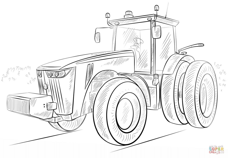 ausmalbilder traktor mit frontlader neu ausmalbild john