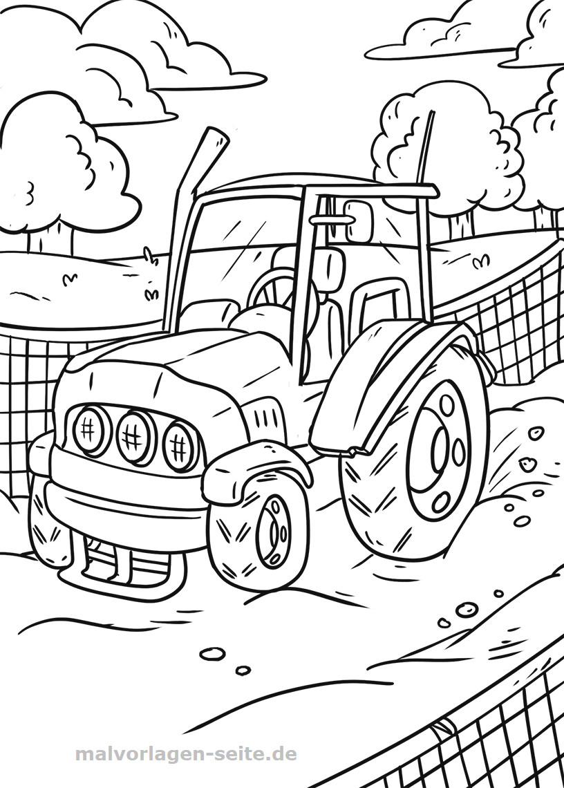 Ausmalbilder Traktor Mit Pflug Neu Malvorlage Traktor Das Bild