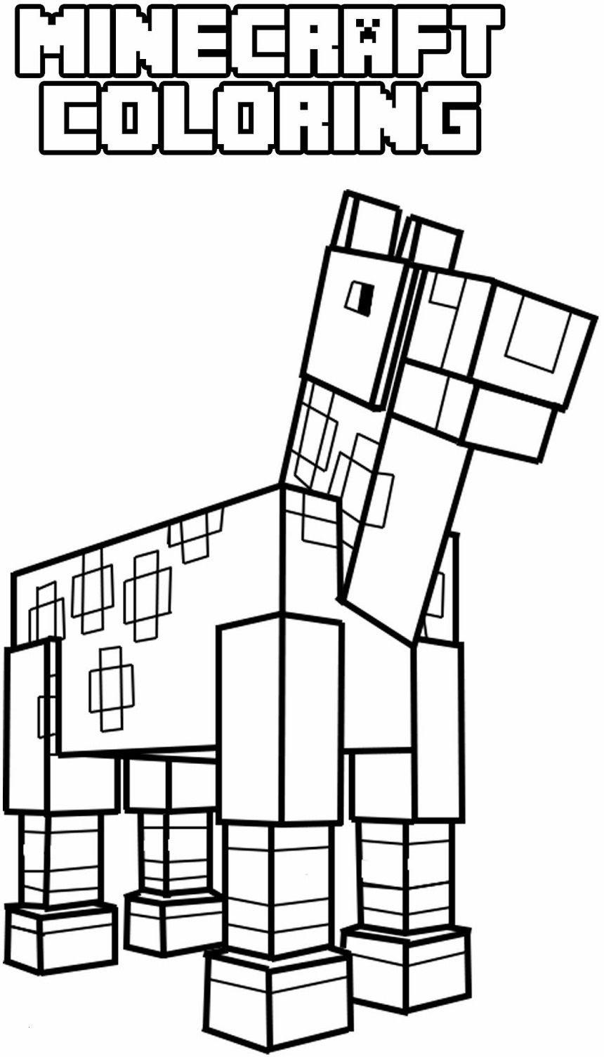 Ausmalbilder Von Minecraft Genial Minecraft Horse Schön Ausmalbilder