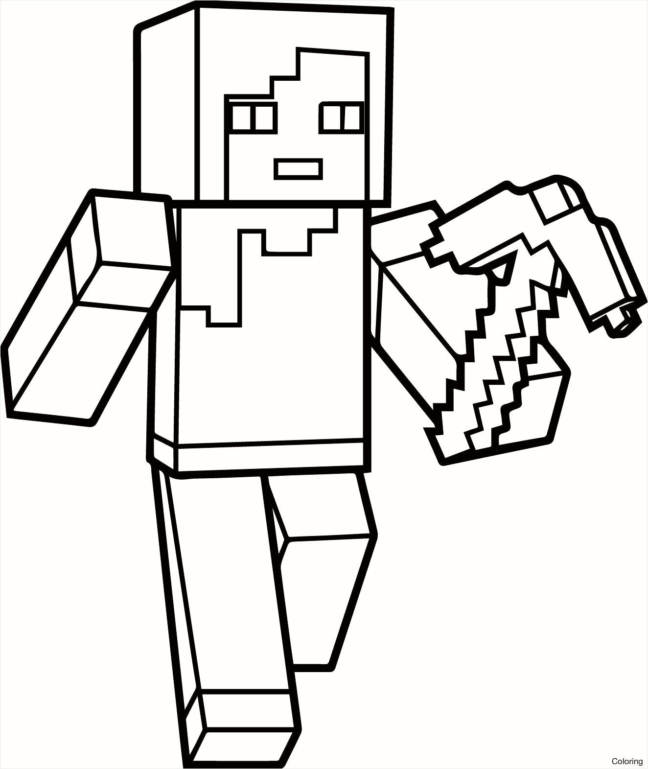 99 Neu Ausmalbilder Von Minecraft Stock Kinder Bilder