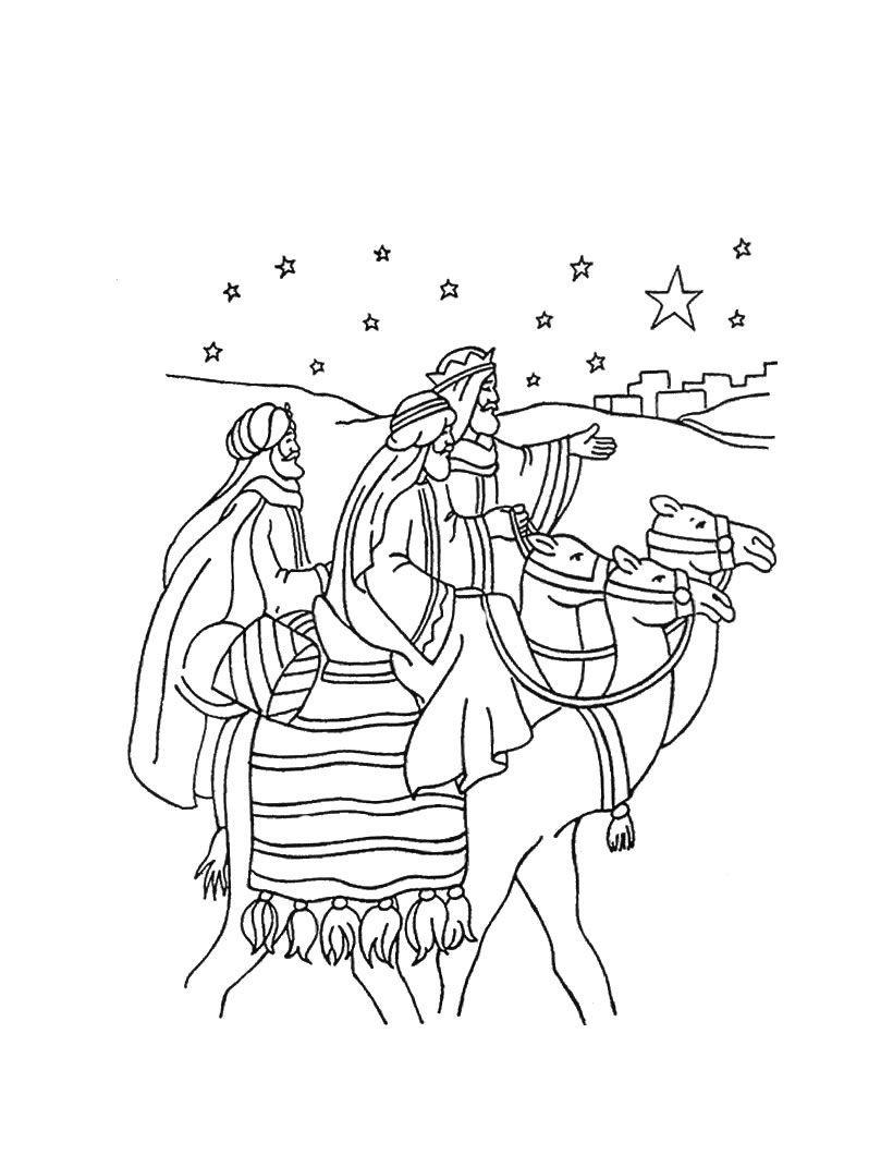 Ausmalbilder Weihnachten Krippe Frisch Die Reise Der Heiligen Drei Könige Malbogen Winter Bild