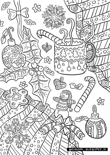 Ausmalbilder Weihnachten Mandala Inspirierend Optimimi A Free Christmas themed Coloring Page Das Bild