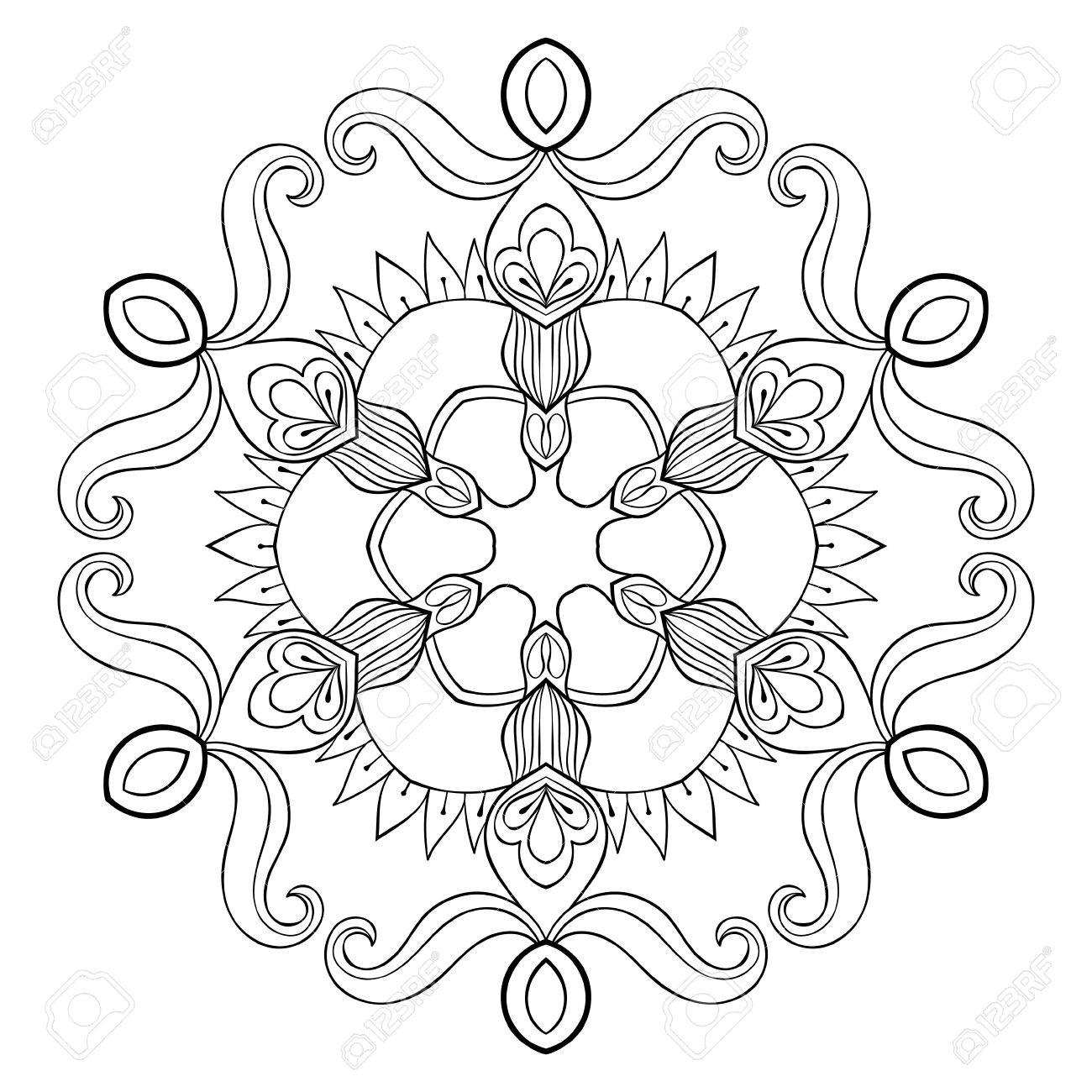 Ausmalbilder Weihnachten Schneeflocke Genial Vektor Papier Ausschnitt Schneeflocke In Zentangle Art Mandala Für Das Bild