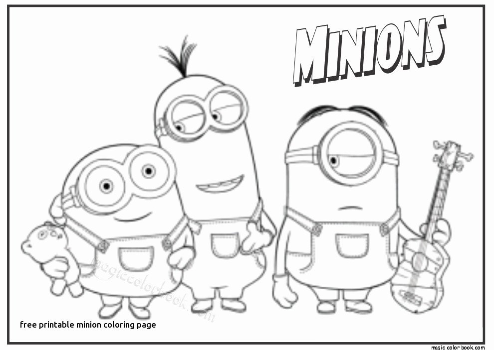 Ausmalbilder Zum Ausdrucken Minions Frisch Minion Clipart Black and White Inspirational Minion Coloring Pages Das Bild