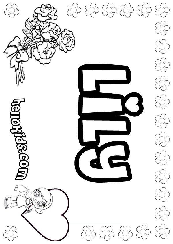 Ausmalbilder Zum Ausdrucken Minions Inspirierend Lily Name Coloring Pages Coloring Kids Druckfertig Minions Bilder Bild