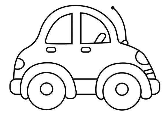 Auto Malvorlage Einfach Genial Malvorlage Auto Einfach – Ausmalbilder Für Kinder Bild