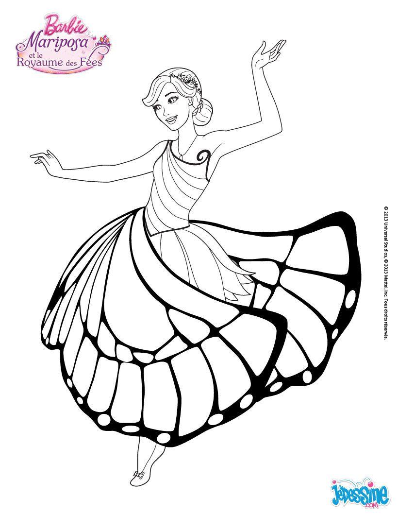 Barbie Bilder Zum Ausdrucken Einzigartig Coloriage Barbie Mariposa Dans La Salle De Bal Galerie