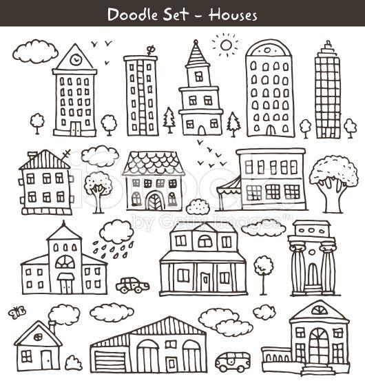 Ben Und Holly Ausmalbilder Einzigartig Set Of Doodle Drawings with Different Built Structures Bild