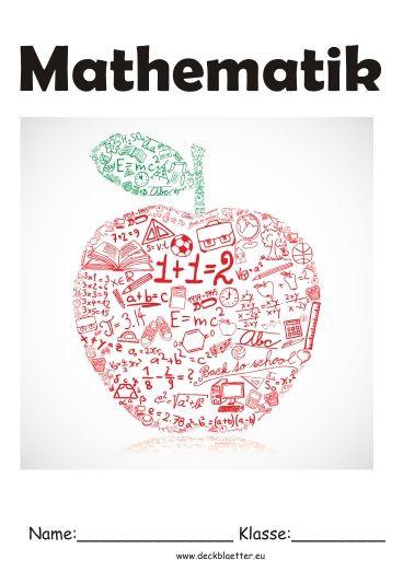 Biologie Deckblatt Zum Ausmalen Inspirierend Deckblatt Mathematik Schule Pinterest Fotos