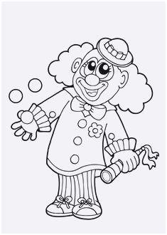 Clown Zum Ausmalen Genial Clown Vorlage Zum Ausschneiden Stock