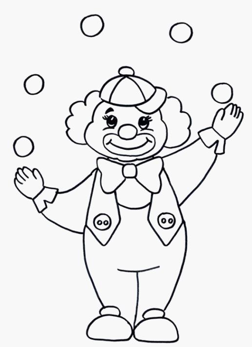 Clowns Zum Ausmalen Frisch 23 überzeugend Zirkus Basteln Vorlagen Idee Bilder