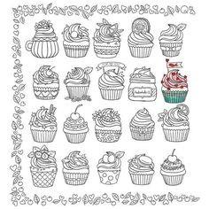 Cupcake Zum Ausmalen Genial 361 Besten Cupcake Sweets Bilder Auf Pinterest In 2018 Sammlung