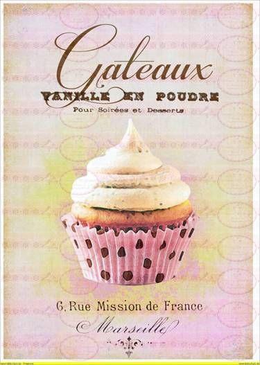 Cupcake Zum Ausmalen Genial Vintage Shabby Chic French Paris Cupcake Patisserie Das Bild