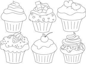 Cupcake Zum Ausmalen Neu Cupcakes Kunstunterricht Pinterest Galerie